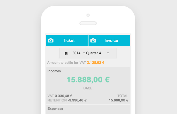Mobile app to upload tickets