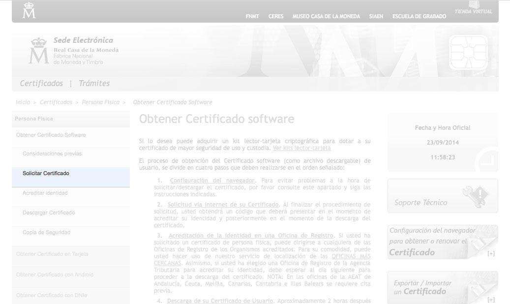 Certificado digital - paso 4 para completarlo