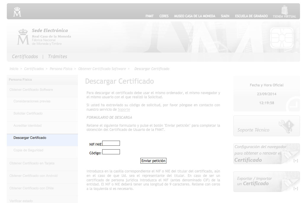 Certificado digital - paso 7 para completarlo