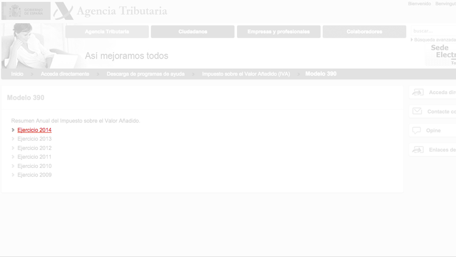 Agencia Tributaria Modelo 390