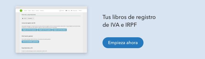 libro registro iva irpf