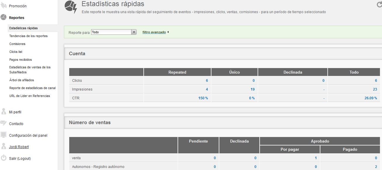 reports afiliados