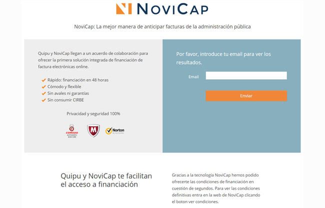 como solicitar financiacion en novicap