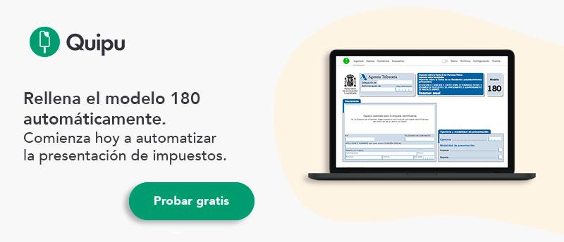 presentar modelo 180 impuestos