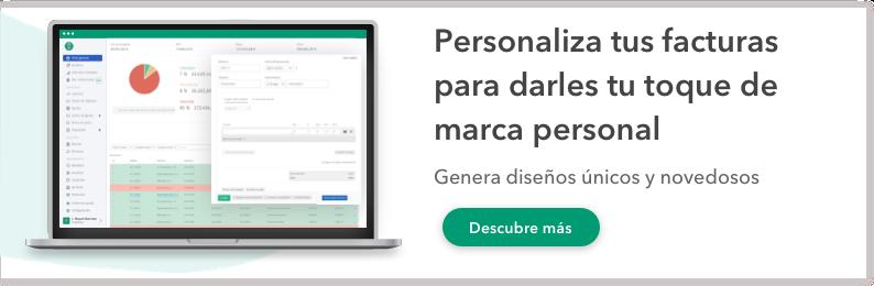 diseño de facturas personalizado