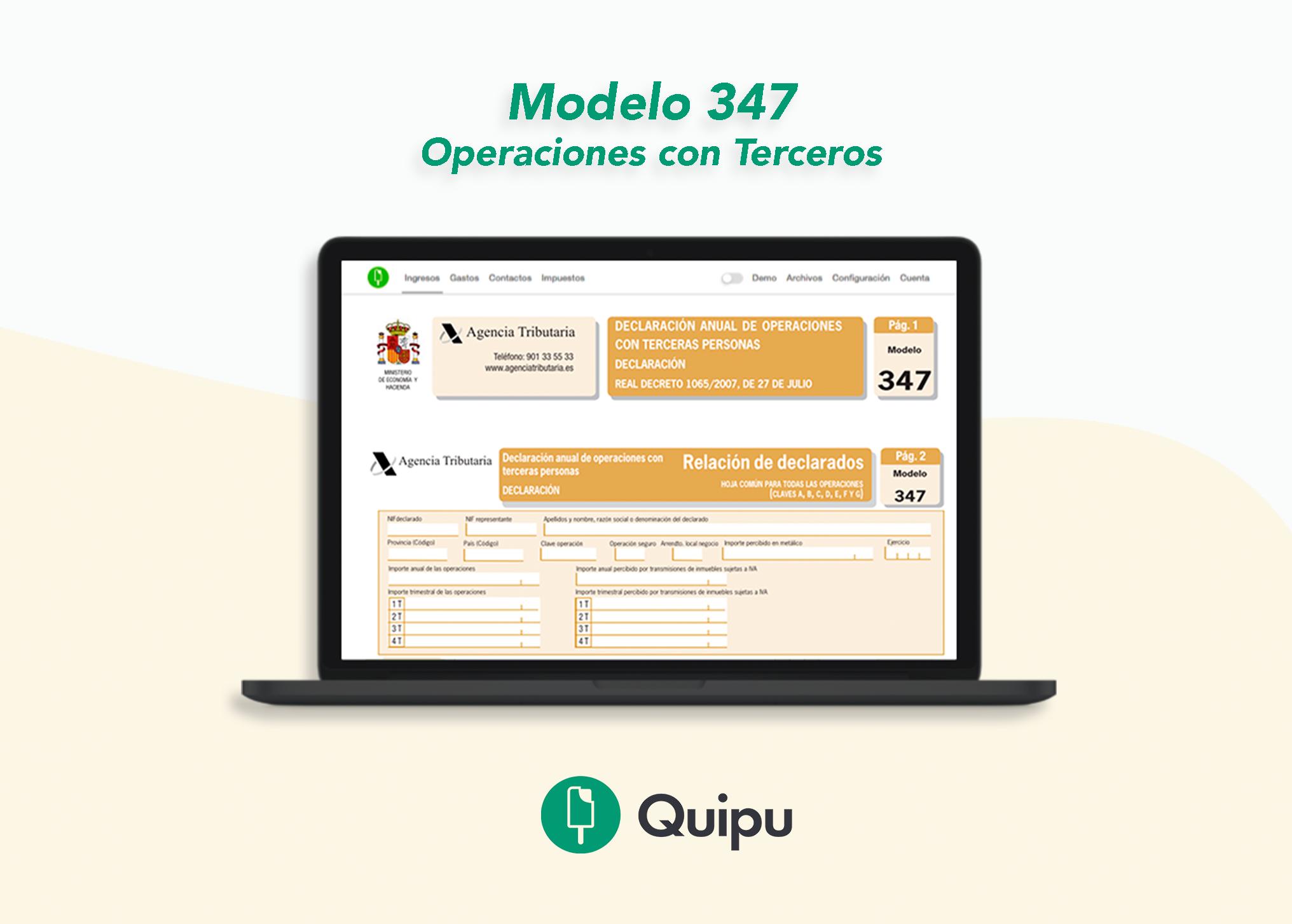 modelo 347 operaciones con terceros