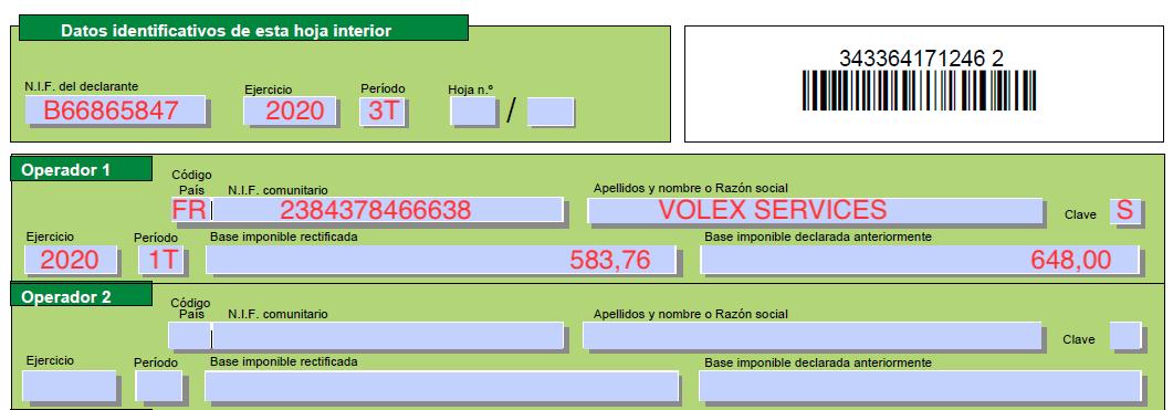 ejemplo modelo 349 - caso practico