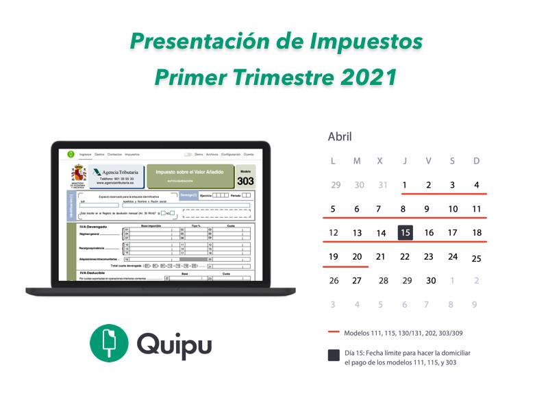 impuestos primer trimestre 2021