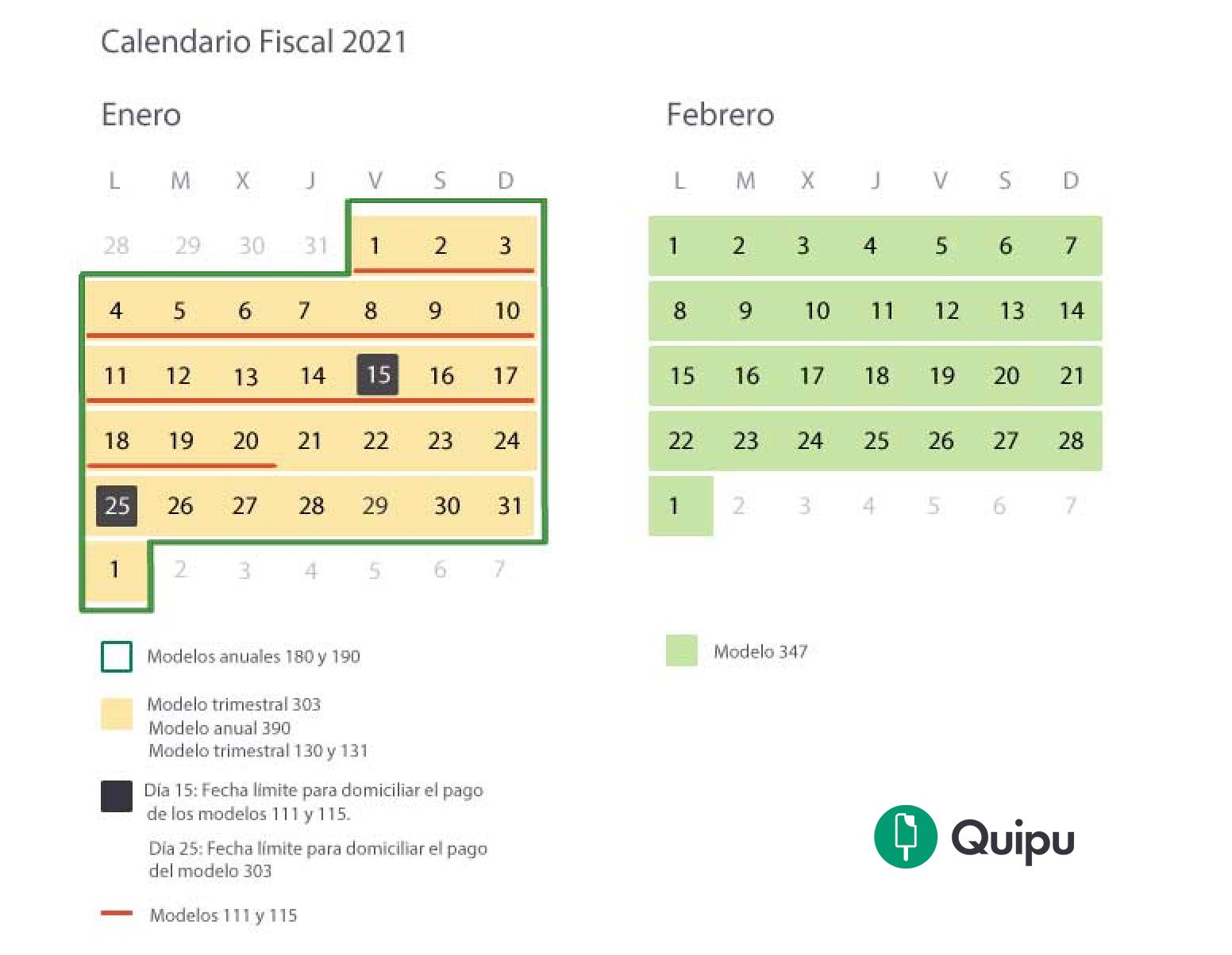 calendario fiscal 2021