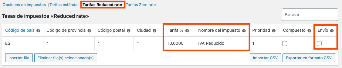 Reduced rate WooCommerce